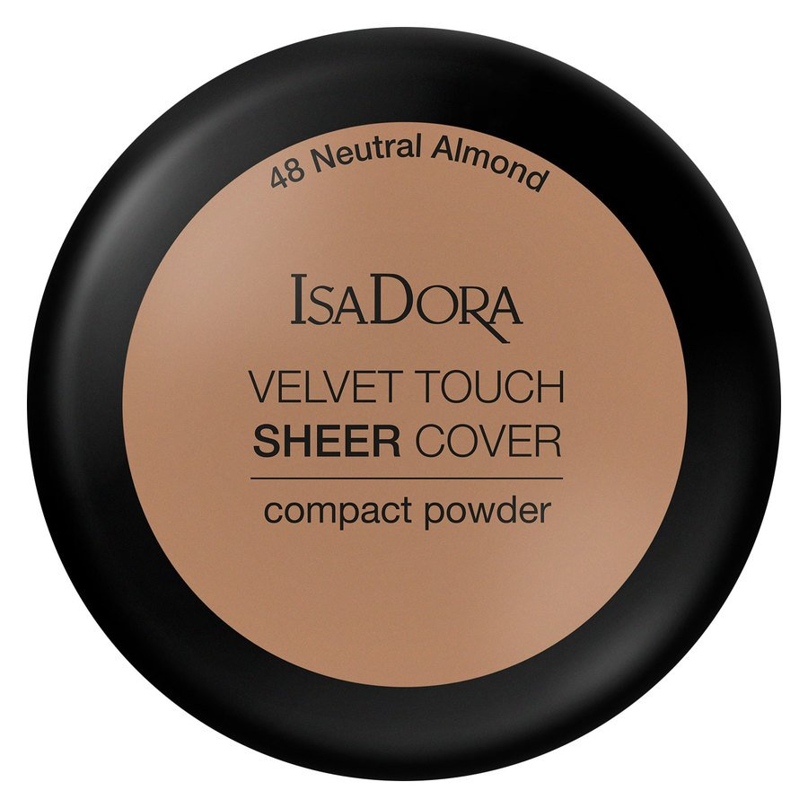 IsaDora Velvet Touch Sheer Cover Compact Powder 48 Neutral Almond 7,5g