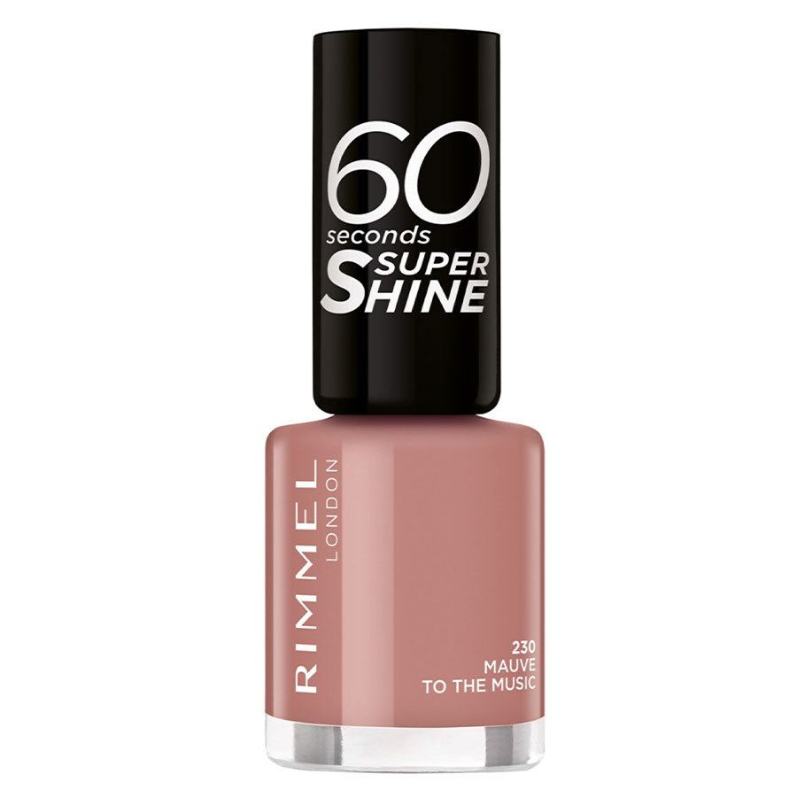 Rimmel London 60 Seconds Super Shine Nail Polish #230 Mauve To The Music 8ml