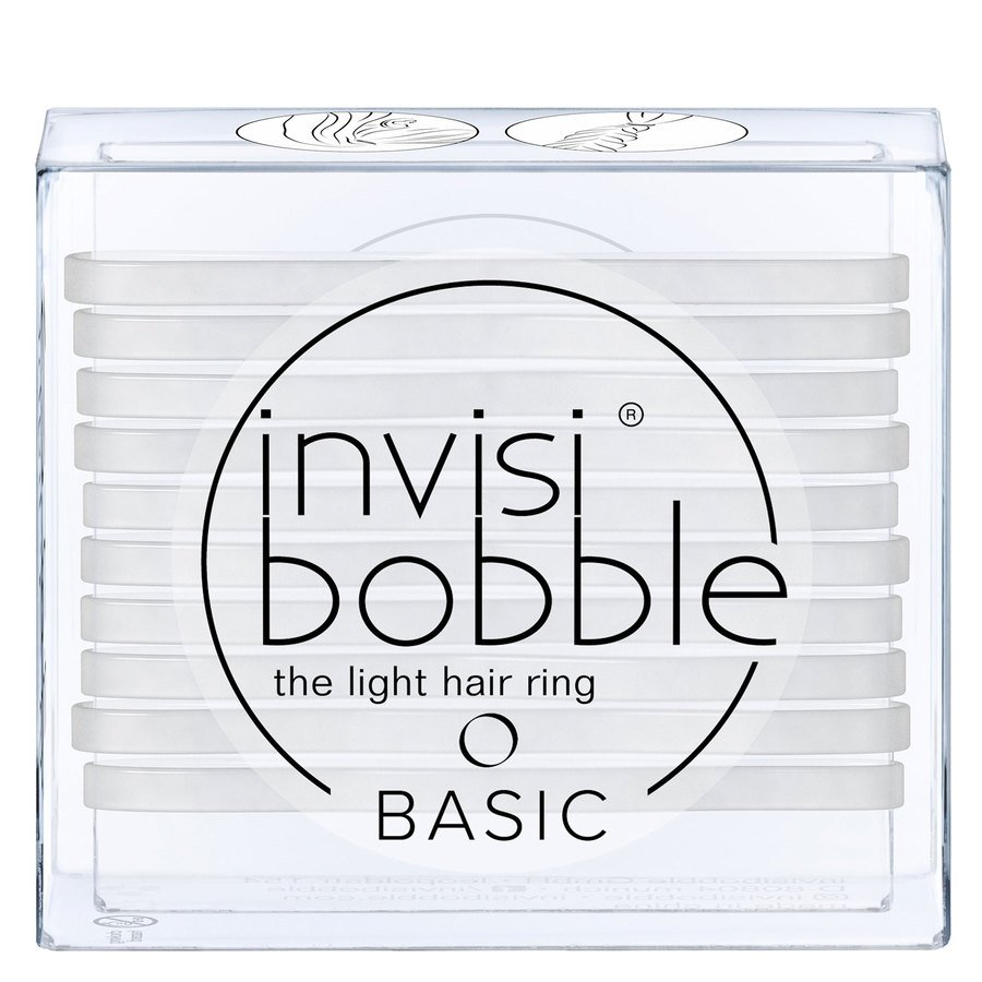 Invisibobble Basic Crystal Clear 10pcs