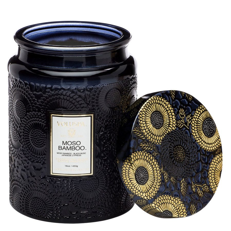 Voluspa Large Glass Jar Candle Moso Bamboo 455g