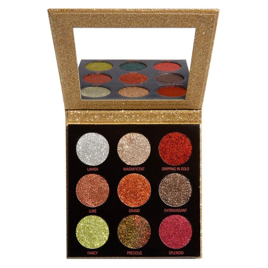 Makeup Revolution Pressed Glitter Palette Midas Touch  1,2g
