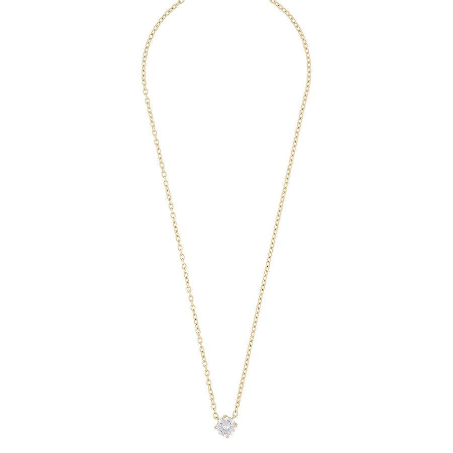 Snö Of Sweden Luire Stone Pendant Necklace Gold/Clear 40cm