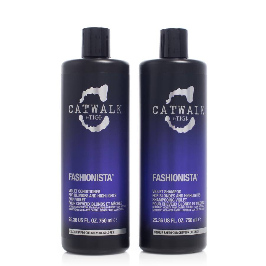 Tigi Catwalk Fashionista Violet Shampoo & Conditioner 2x750ml