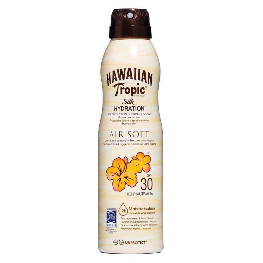 Hawaiian Tropic Air Soft Dry Oil Continuous Spray SPF30 177ml