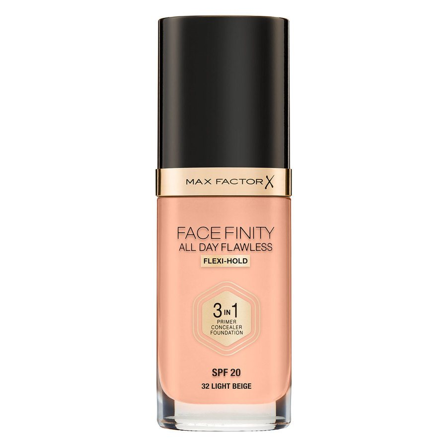 Max Factor Facefinity All Day Flawless 3-In-1 Foundation #32 Light Beige 30ml