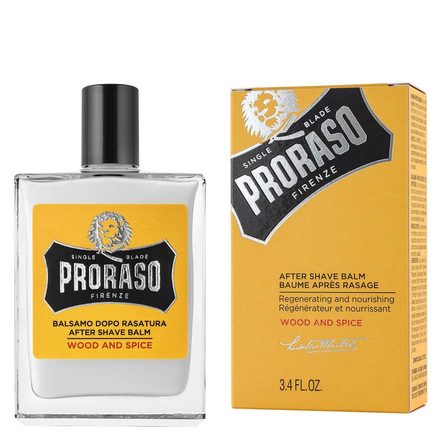 Proraso Single Blade Aftershave Balm Wood & Spice 100ml