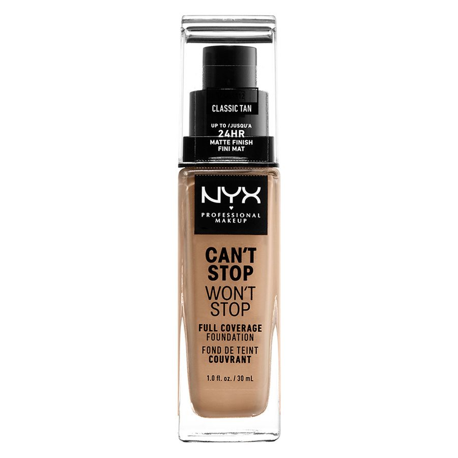 NYX Professional Makeup Can't Stop Won't Stop Full Coverage Foundation Classic Tan 30ml