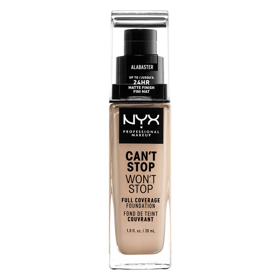NYX Professional Makeup Can't Stop Won't Stop Full Coverage Foundation Alabaster 30ml