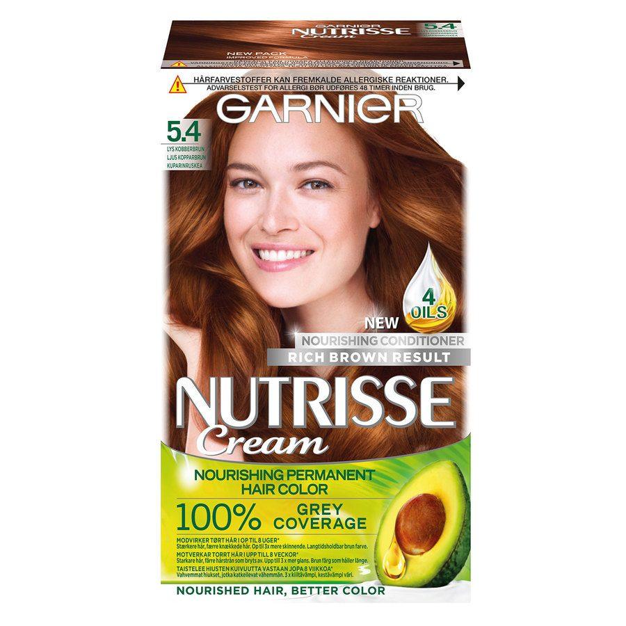 Garnier Nutrisse Cream 5,4 Lys Kobberbrun