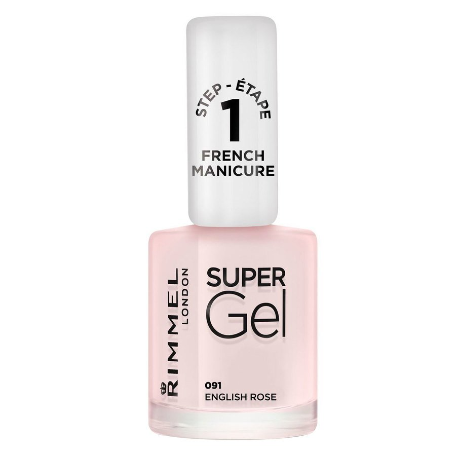 Rimmel London Super Gel Nail Polish #091 English Rose 12ml