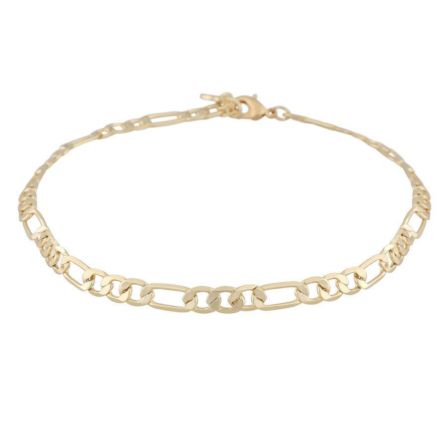 Snö Of Sweden Anchor Smal Chain Bracelet Plain Gold