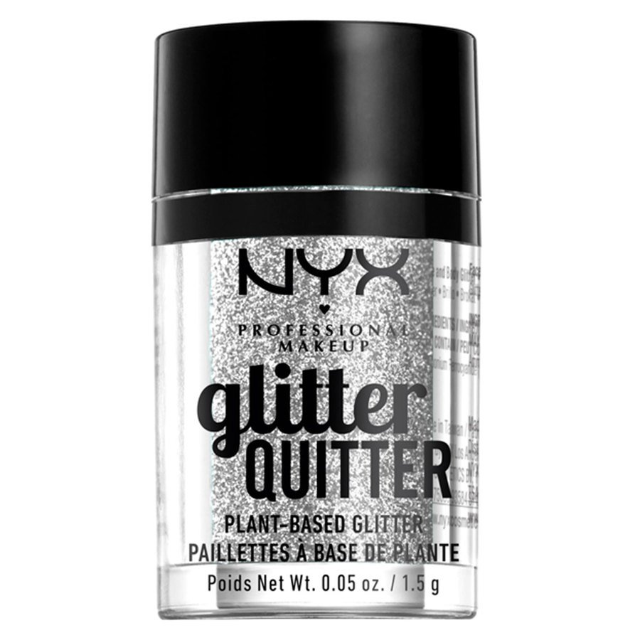 NYX Professional Makeup Glitter Quitter Plant Based Glitter Silver 1,5g