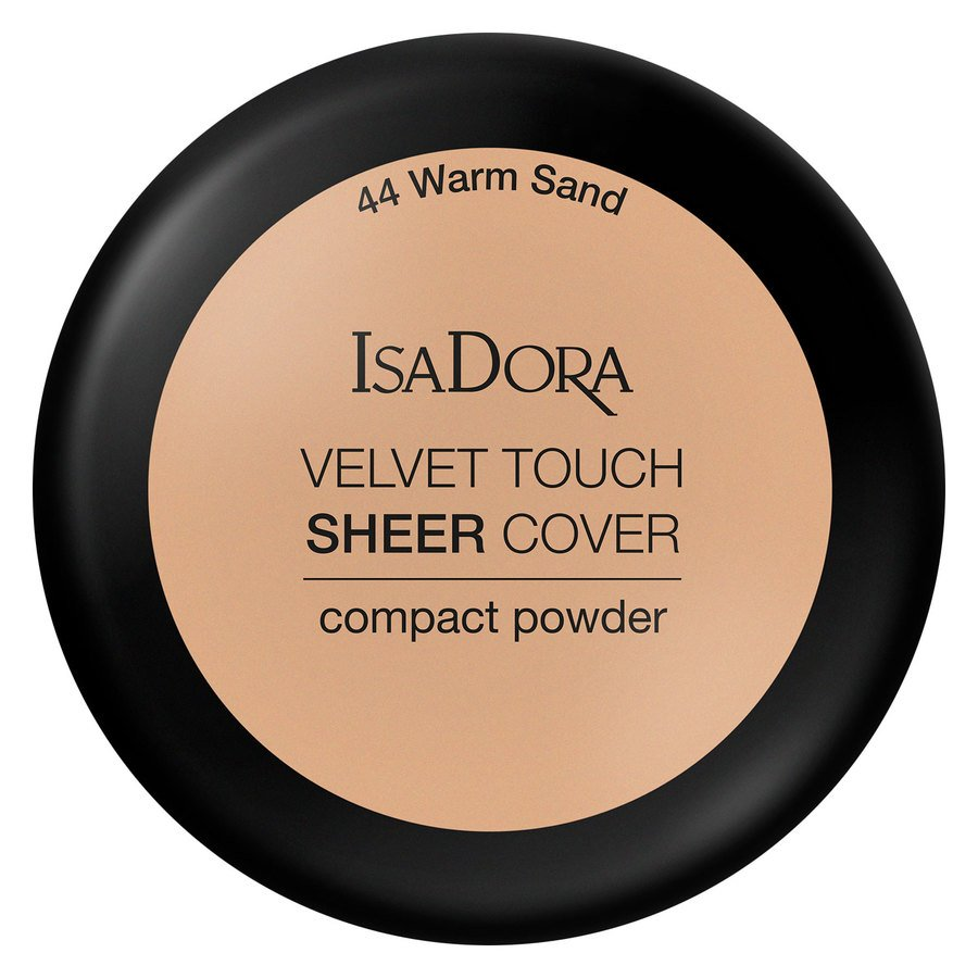 IsaDora Velvet Touch Sheer Cover Compact Powder 44 Warm Sand 7,5g