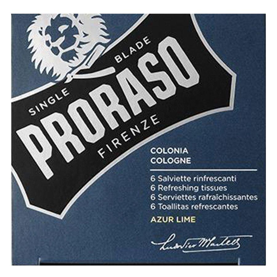 Proraso Beard Wipes Azur Lime 6pcs
