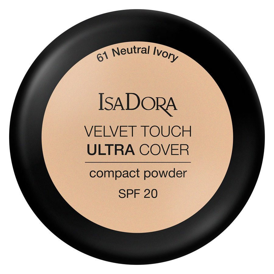 IsaDora Velvet Touch Ultra Cover Compact Powder SPF20 61 Neutral Ivory 7,5g