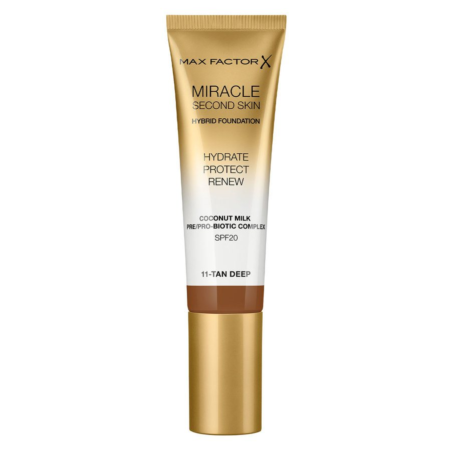 Max Factor Miracle Second Skin Foundation - #011 Tan/Deep 33ml