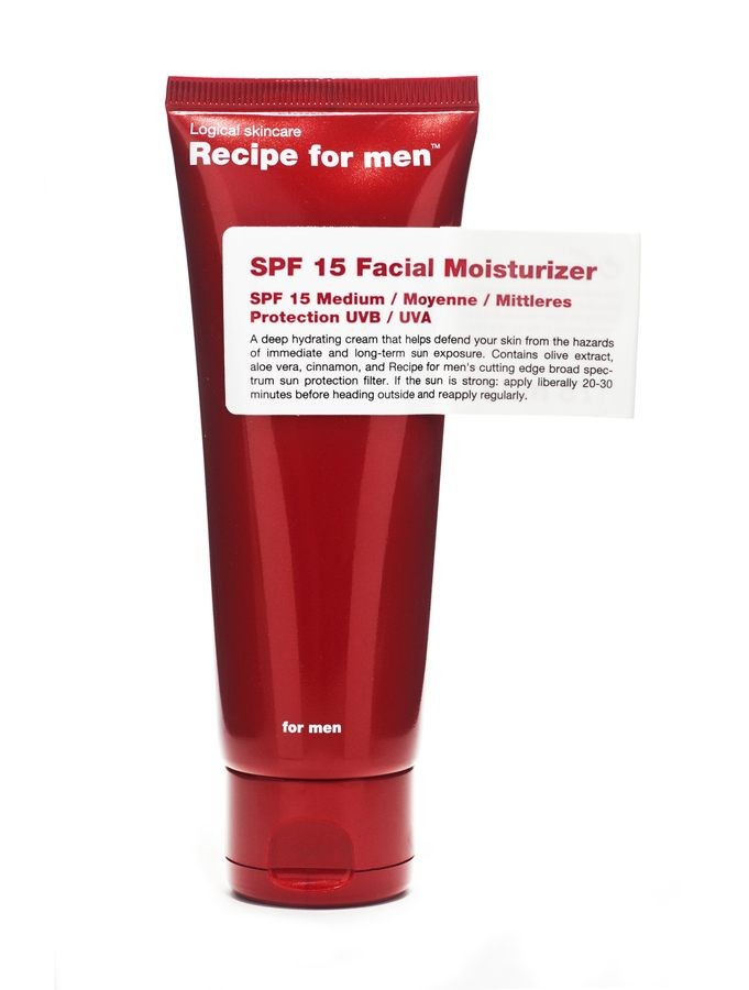 Recipe For Men SPF15 Facial Moisturizer 75ml