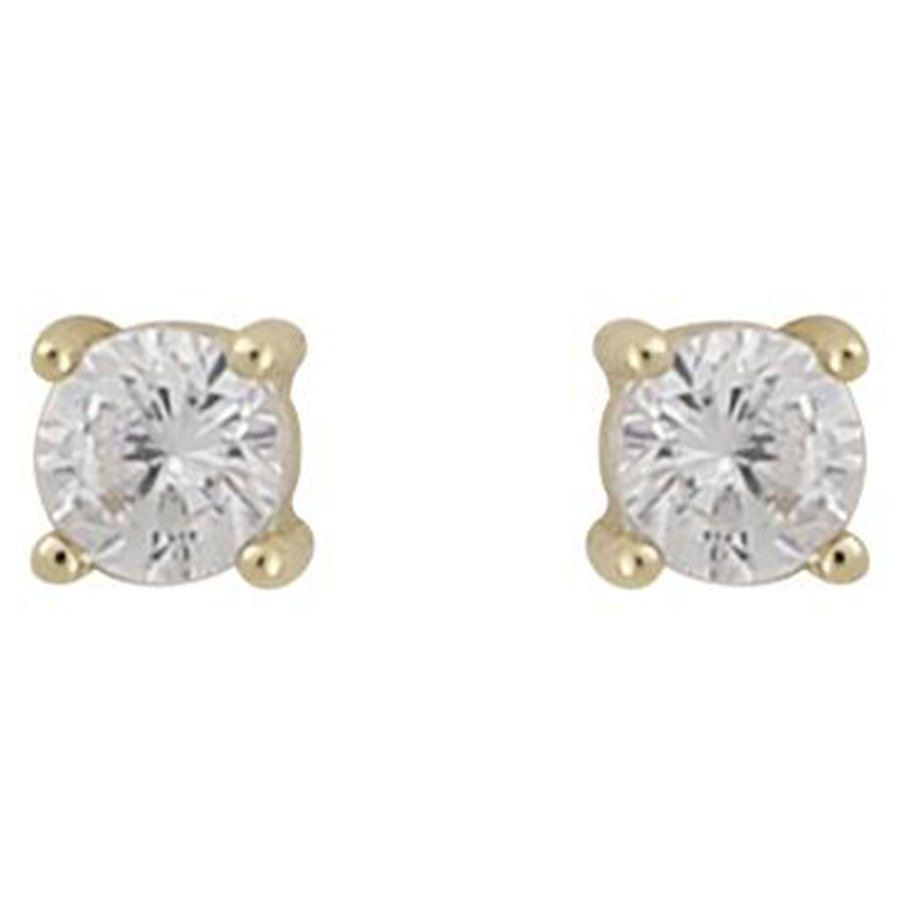 Snö Of Sweden Camille Small Stone Earring Gold/Clear 3mm