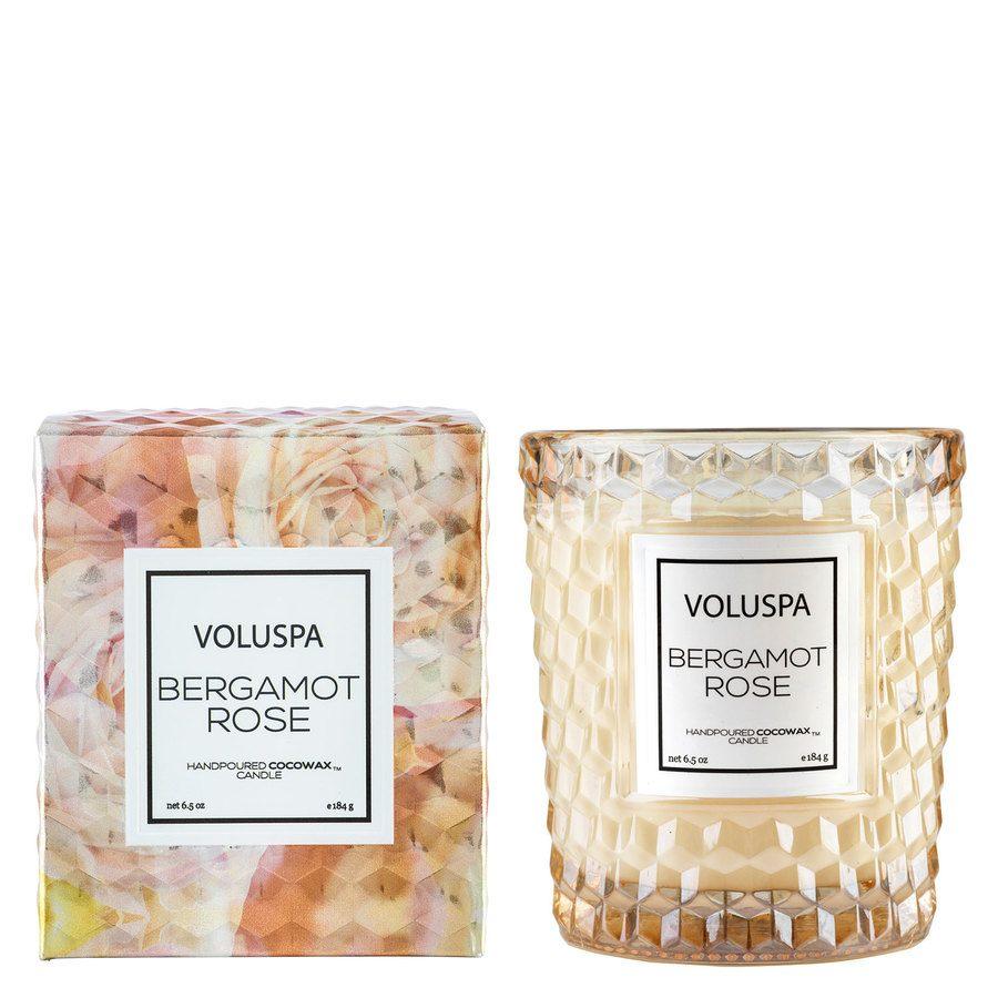 Voluspa Boxed Textured Glass Candle Bergamot Rose 184g