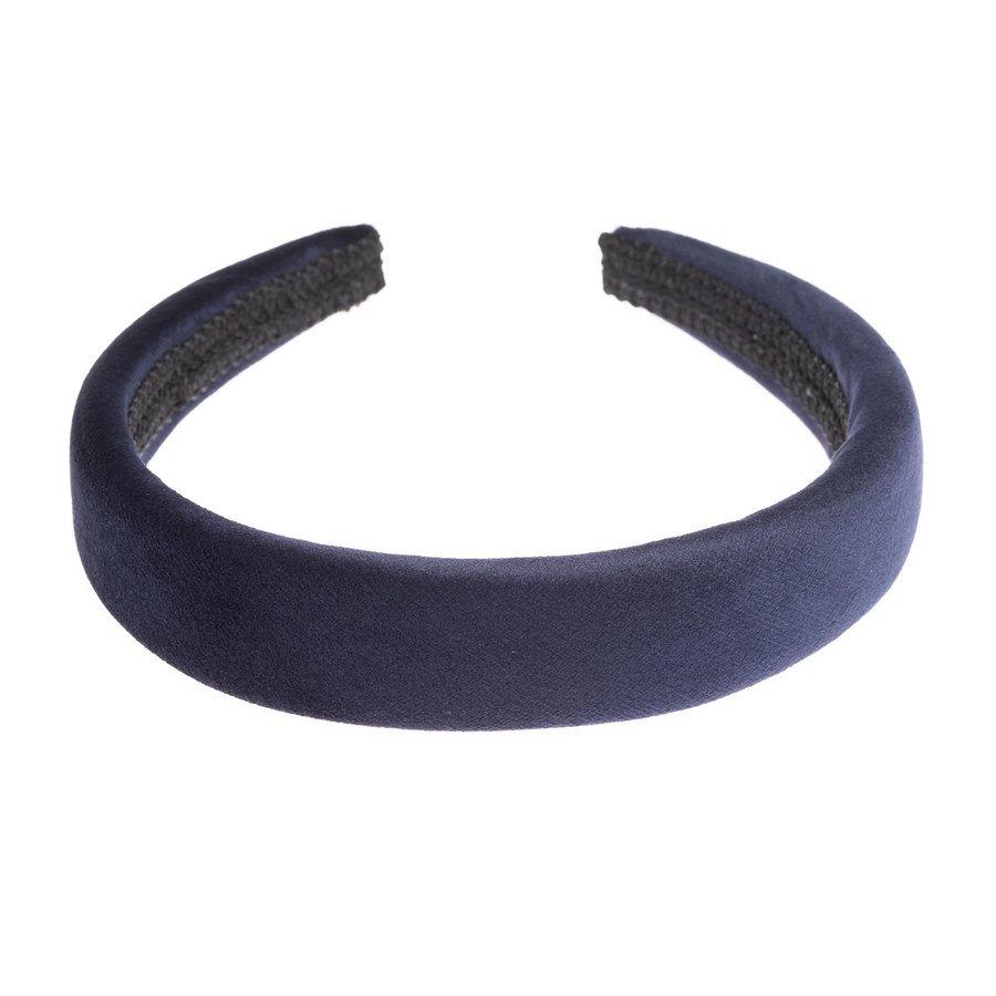 DARK Velvet Hairband Broad Navy Blue