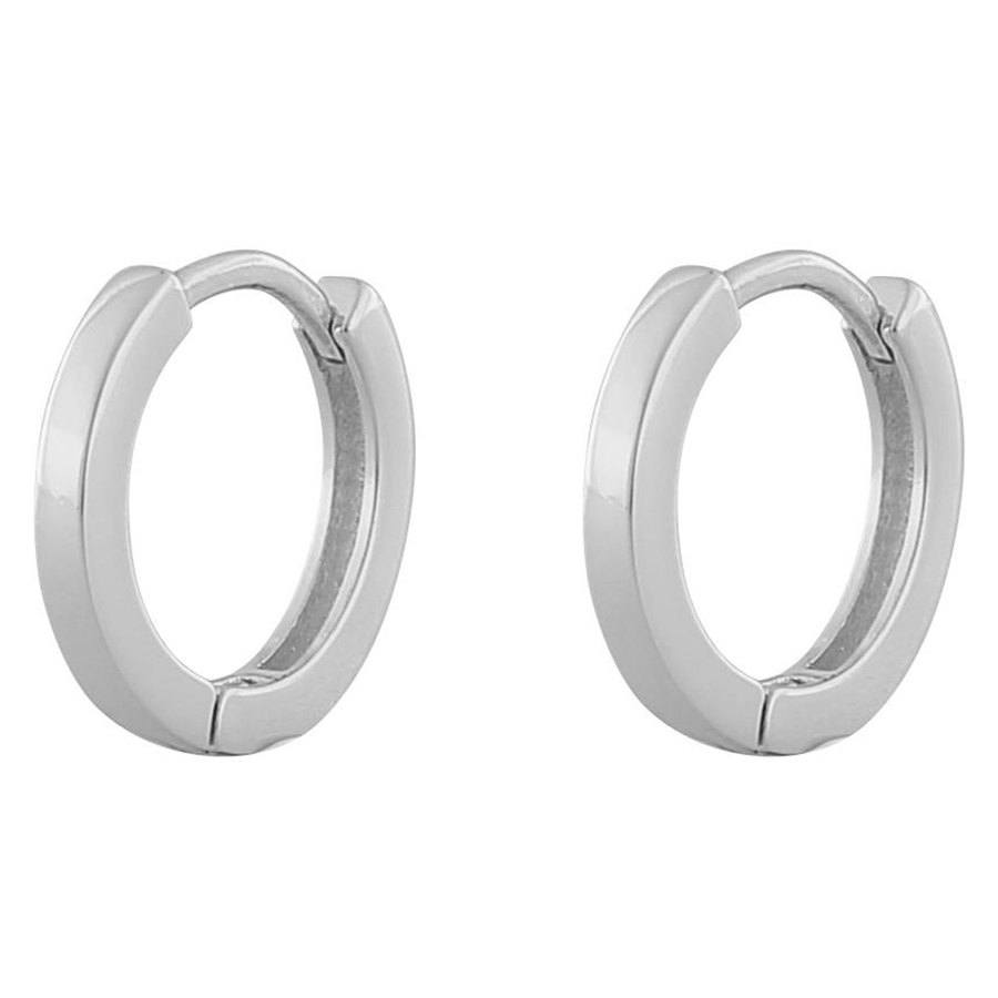Snö Of Sweden Anchor Small Ring Earring Plain Silver