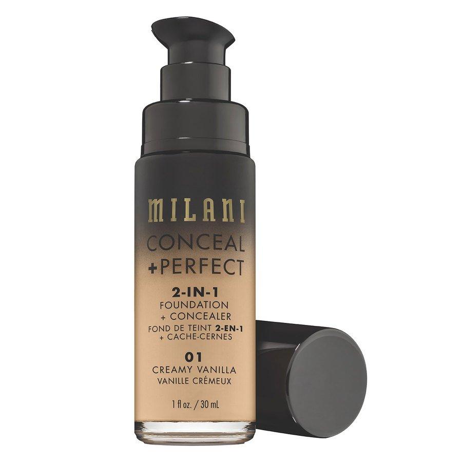 Milani Cosmetics Conceal & Perfect 2 In 1 Foundation + Concealer Creamy Vanilla 30ml