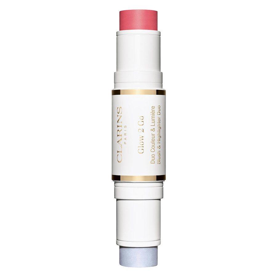 Clarins 2in1 Stick Highlighter & Blush #01 Glowy Pink 10g
