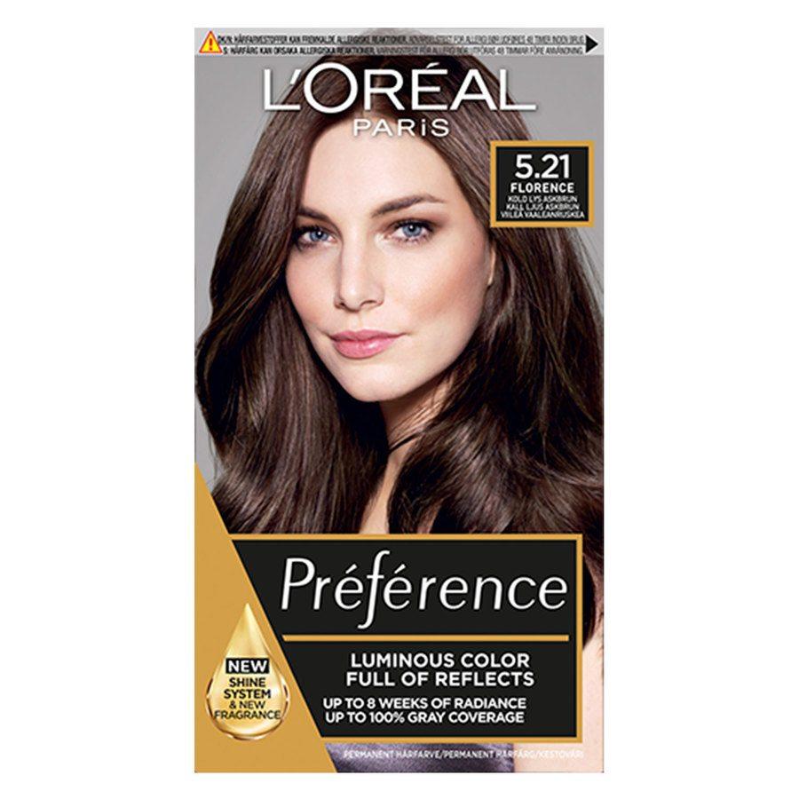 L'Oréal Paris Préférence Core Récital 5,21 L'etoile Intense Iridescent Light Brown