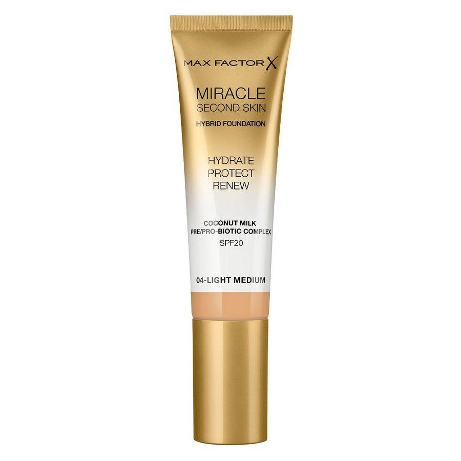 Max Factor Miracle Second Skin Foundation - #004 Light Medium 33ml