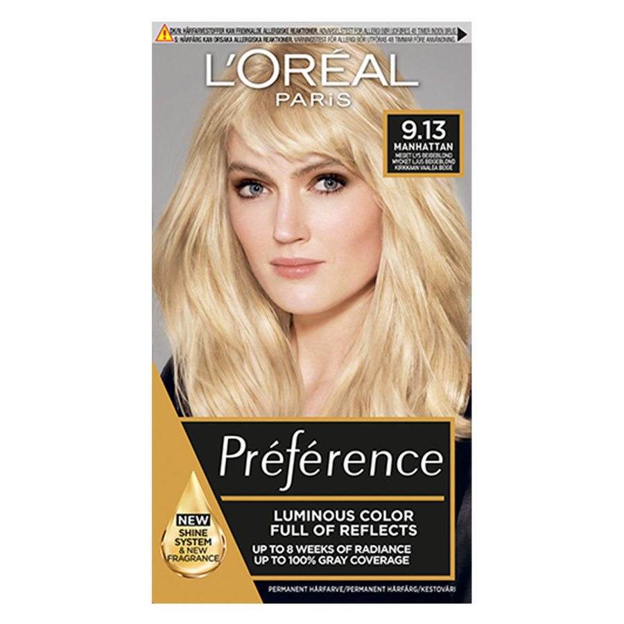 L'Oréal Paris Préférence Core Récital 9,13 Manhattan Light Golden Ash Blonde