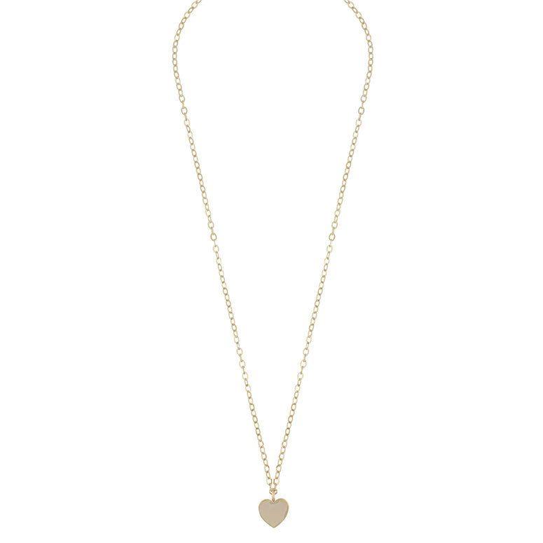 Snö Of Sweden Vital Pendant Necklace Plain Gold 50cm