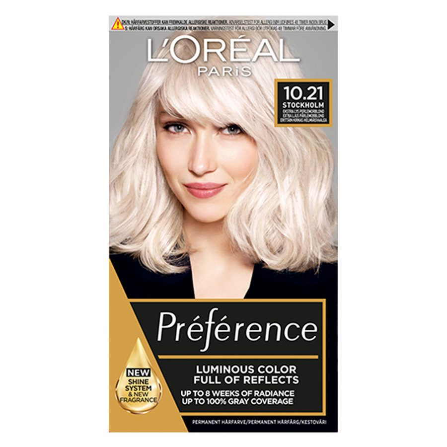 L'Oréal Paris Préférence Core Récital 10,21 Stockholm Extra Light Pearl Blonde