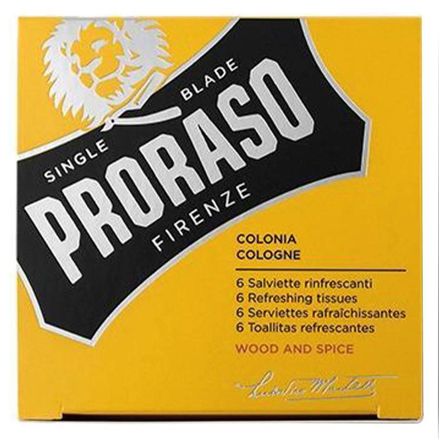 Proraso Beard Wipes Wood & Spice 6pcs