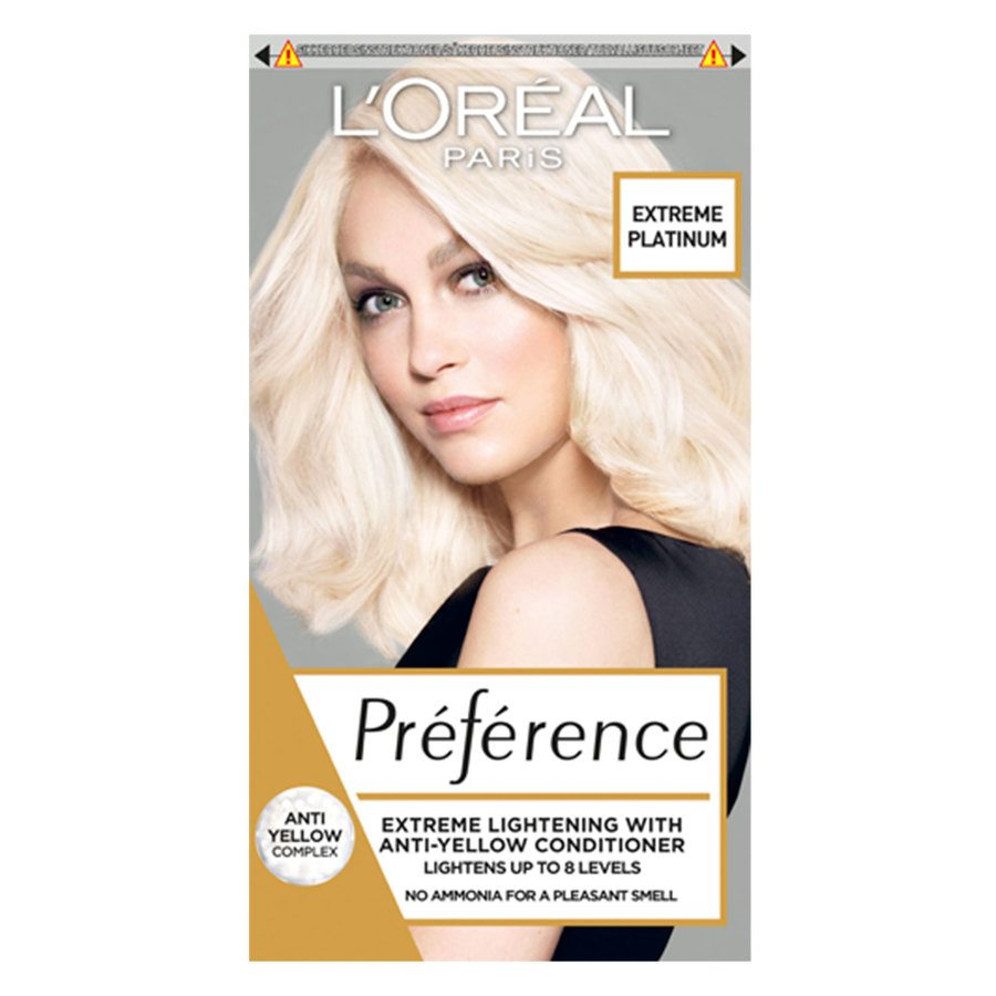 L'Oréal Paris Préférence Core Récital Blondissime Extreme Platinium Lightens Up To 8 Shades Anti-Yellow Care