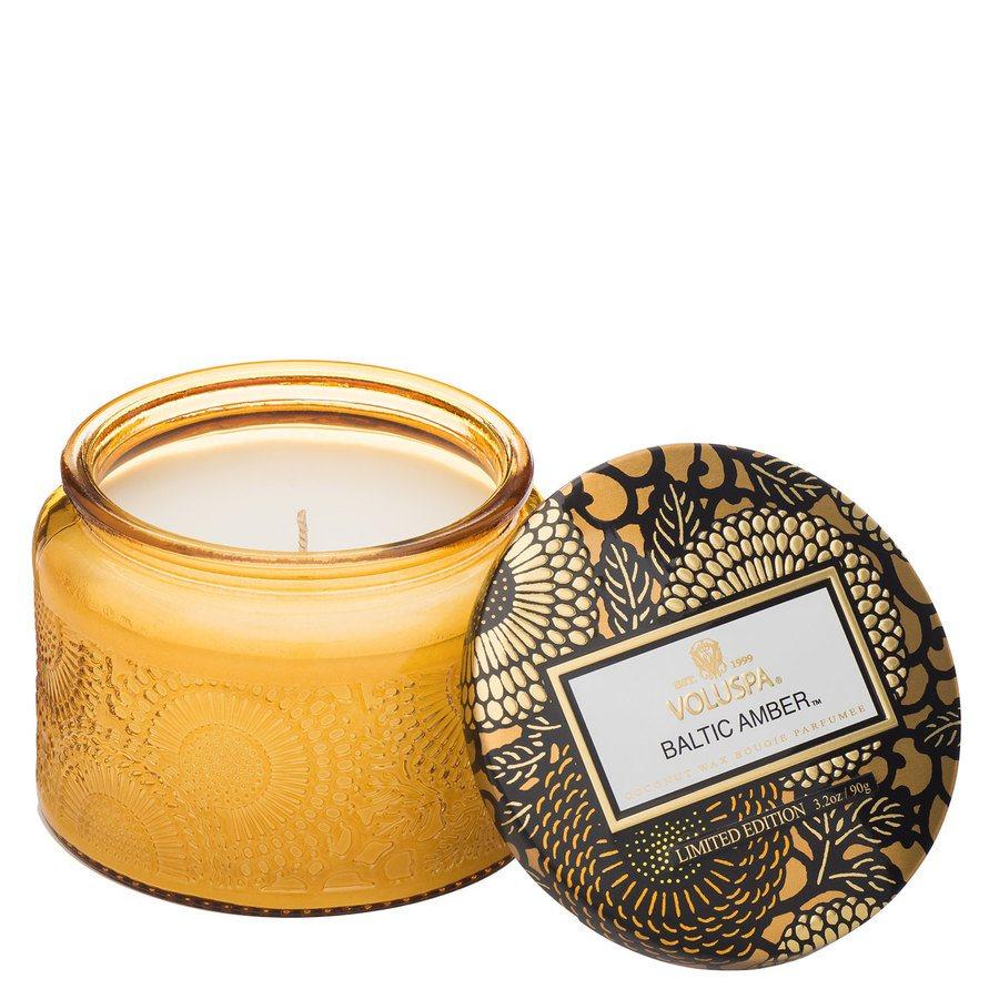 Voluspa Small Glass Jar Candle Baltic Amber 90g