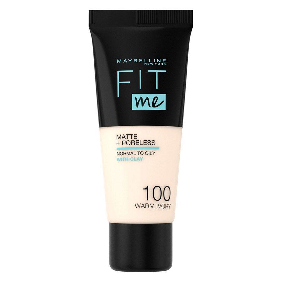 Maybelline Fit Me Matte + Poreless Foundation #100 Warm Ivory 30ml