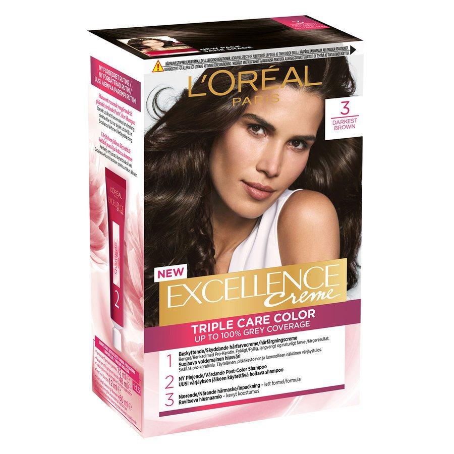 L'Oréal Paris Excellence Creme 3 Mørk Brun