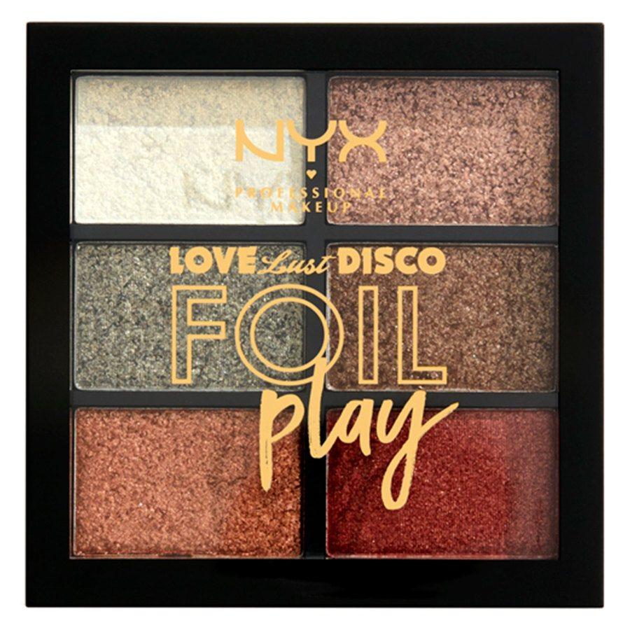 NYX Professional Makeup Love Lust Disco Foil Play Cream Pigment Palette Get Down 6x1,5g