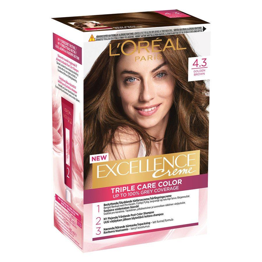 L'Oréal Paris Excellence Creme 4,3 Gyldenbrun