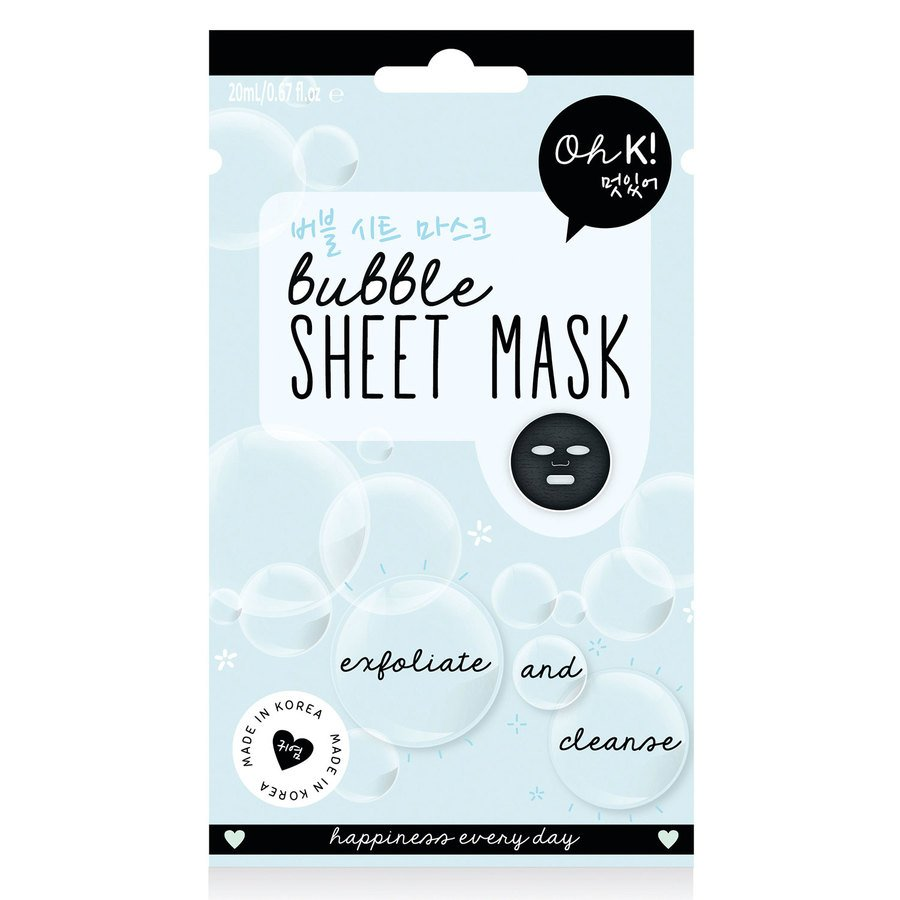 Oh K! Exfoliate & Cleanse Bubble Sheet Face Mask 20ml