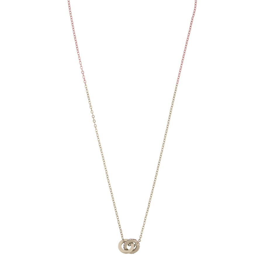Snö Of Sweden Connected Pendant Necklace Gold/Clear 42cm