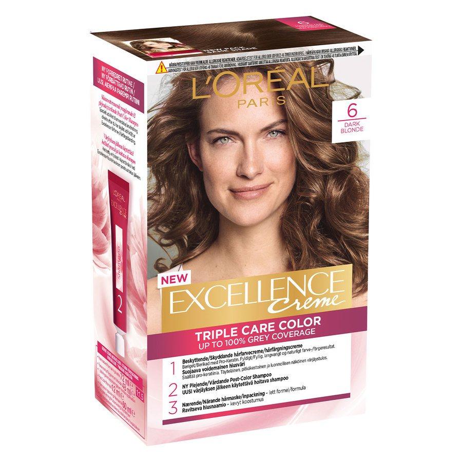 L'Oréal Paris Excellence Creme 6 Mørk Blond