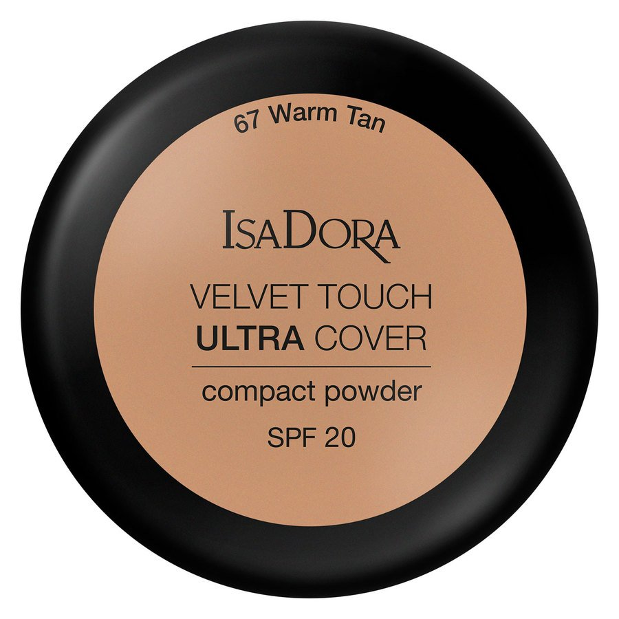 IsaDora Velvet Touch Ultra Cover Compact Powder SPF20 67 Warm Tan 7,5g
