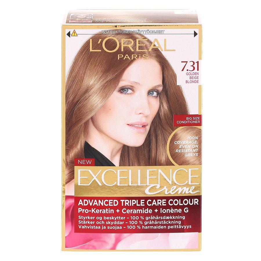 L'Oréal Paris Excellence Creme 7,31 Gylden Beigeblond