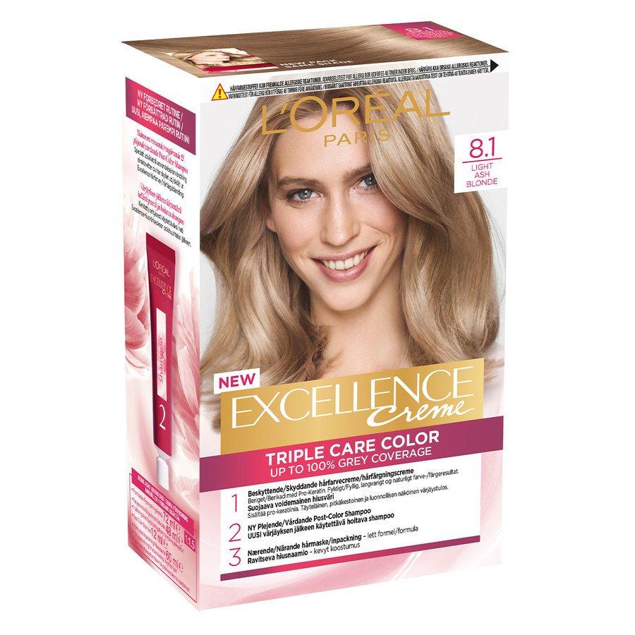 L'Oréal Paris Excellence Creme 8,1 Lys Askeblond