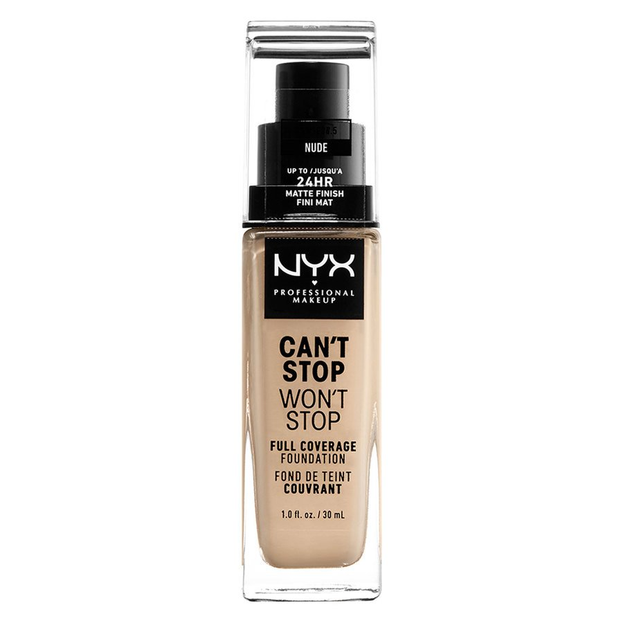 NYX Professional Makeup Can't Stop Won't Stop Full Coverage Foundation Nude 30ml