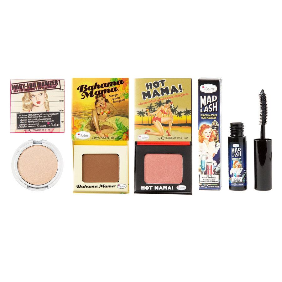 The Balm Travel Set With Cosmetics Bag 4pcs