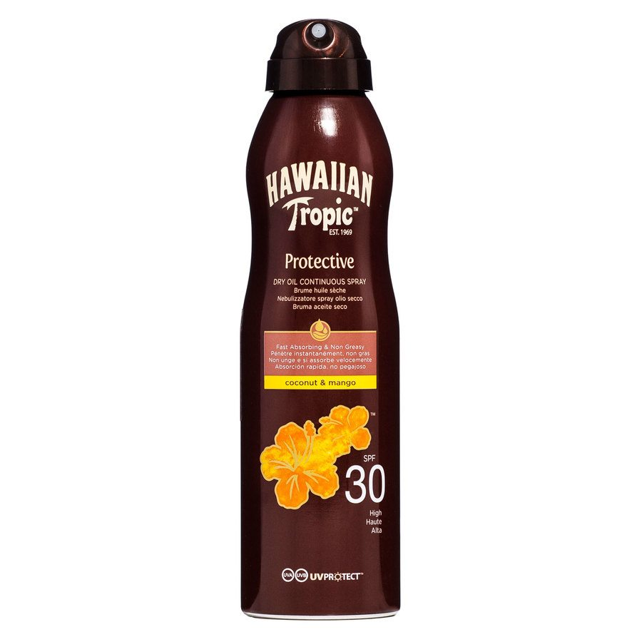 Hawaiian Tropic Protective Dry Oil Continuous Spray SPF30 180ml