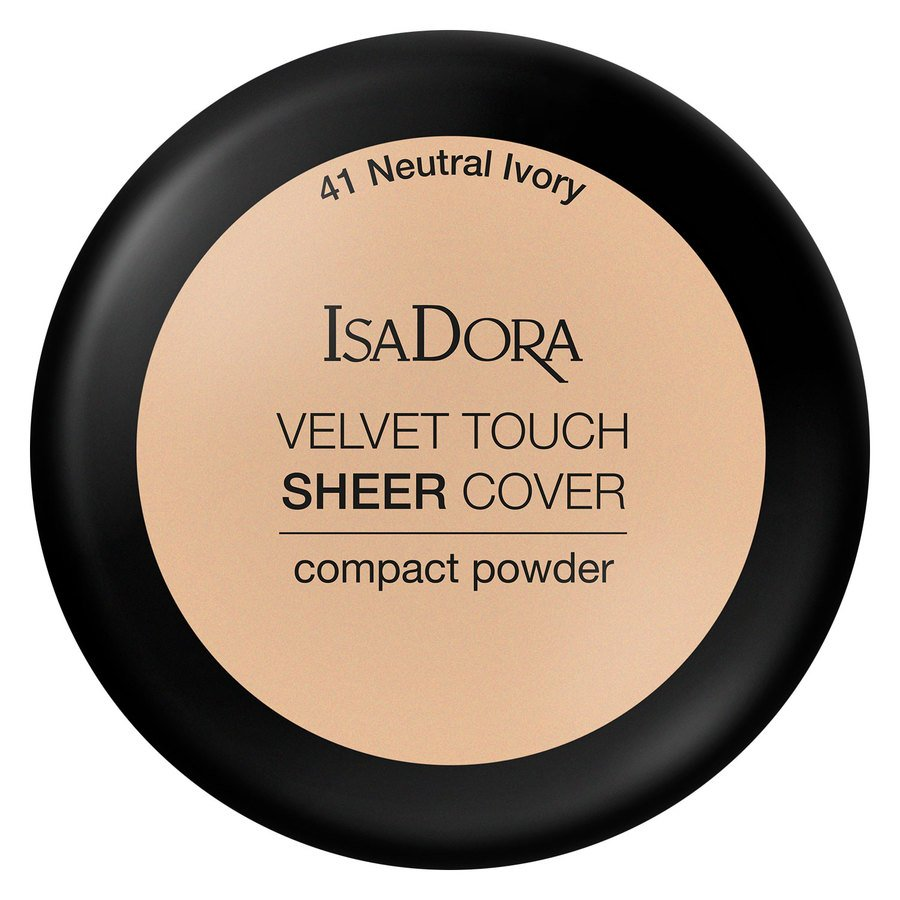 IsaDora Velvet Touch Sheer Cover Compact Powder 41 Neutral Ivory 7,5g