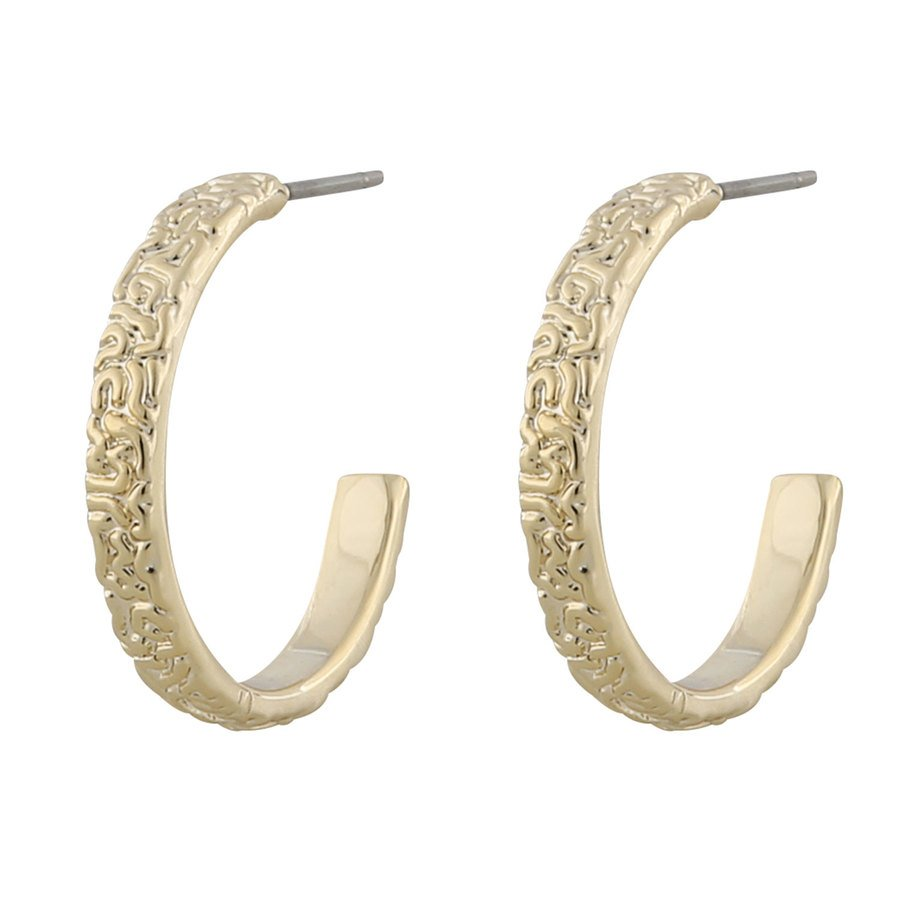 Snö Of Sweden Day Small Ring Earring Plain Gold